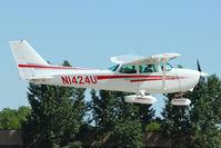 N1424U @ OSH - 1976 Cessna 172M, c/n: 17267091 at 2011 Oshkosh - by Terry Fletcher