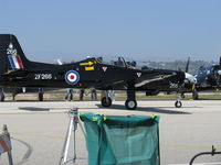 N846RS @ CMA - Short Bros. PLC S312 TUCANO T1 Mk.1, one Garrett TPE331-12B Turboprop 1,100 shp in RAF livery, 4 blade prop, Martin-Baker MB 8LC Ejection Seats, max speed 315 mph, taxi - by Doug Robertson