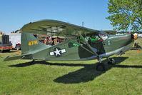 N22422 @ OSH - Stinson L-5B, ex USAF  44-17191A at 2011 Oshkosh