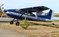 N2747J @ LHD - N2747J Cessna 185 on wheels this time, Lake Hood Anchorage AK - by Pete Hughes