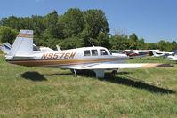 N9576M @ OSH - 1966 Mooney M20F, c/n: 670153 at 2011 Oshkosh