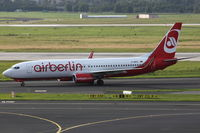 D-ABKO @ EDDL - Air Berlin, Boeing 737-86J (WL), CN: 37757/3377 - by Air-Micha