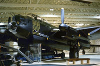 R5868 @ HENDON - Avro Lancaster I S-Sugar of 467 Squadron of the Royal Air Force Museum Hendon as displayed in the Summer of 1976. - by Peter Nicholson