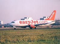 G-EZYI @ EHAM - EasyJet ,  spcl cs easyJet.com - by Henk Geerlings