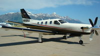 N850VJ @ KJAC - N850VJ at Jackson Hole Wyoming - by Vince Latona