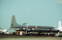 OB-R-1005 @ MIA - CL-44-D6 of Aeronaves del Peru as seen at Miami in November 1979. - by Peter Nicholson