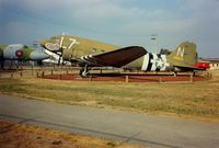 43-15977 @ MER - Douglas C-47A at Castle Air Museum, Atwater, CA - July 1989 - by scotch-canadian