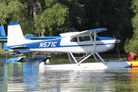 N571C @ OSH - At Lake Winnebago, during 2011 Oshkosh Week