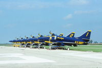 155029 @ KARR - Blue Angels Line up. - by Glenn E. Chatfield