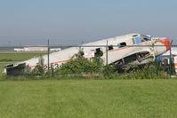 N2813J @ RFD - Stored outside Rockford Aviation College