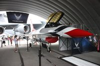 75-0745 @ DAY - Recruiting F-16 by USAF now painted like T-birds plane