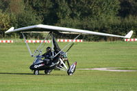 G-HADD @ EGCB - resident flexwing departing from Barton - by Chris Hall