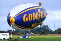 G-HLEL @ EGCB - Goodyear Airship at Barton - by Chris Hall