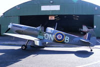 G-CCJL @ EGCB - replica Spitfire based at Barton - by Chris Hall