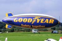 G-HLEL @ EGCB - Goodyear Airship at Barton - by Chris Hall