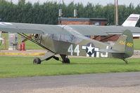 G-BILI @ EGLM - G-BILI (454467), 1948 Piper J3C-65, c/n: 13207 at White Waltham