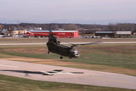 66-19136 @ KDPA - Departing runway 22 past the control tower - by Glenn E. Chatfield