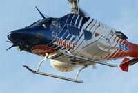 N141CF @ GPM - Bell 222 departing Grand Prairie Texas Airport, home base of CareFlite. - by Miles Feigenbaum AP/IA