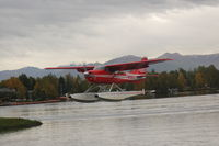 N4661Z @ LHD - Landing at Lake Hood Seaplane base Anchorage, AK - by BTBFlyboy