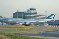 B-HKJ @ EGCC - Cathay Cacific Cargo Boeing 747 taxiing at Manchester Airport - by David Burrell