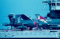 XN982 - Buccaneer XN982/027 809Sqd Royal Navy aboard HMS Ark Royal in Grand Harbour, Malta