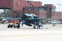 N68RW @ YIP - F8F-2 Bearcat in Blue Angels colors