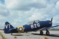 N3272G @ PBI - SNJ-5 ex USN Bu.84826 seen at Palm Beach in November 1979. - by Peter Nicholson