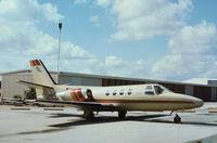 N121JW @ PBI - Cessna 501 Citation as seen at West Palm Beach in November 1979. - by Peter Nicholson