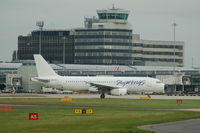 SX-BTP @ EGCC - Skywings Airbus A320-231  taxiing - by David Burrell