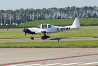 G-OKMA @ EHLE - Heading to the runway at Lelystad Airport for take off. - by Jan Bekker