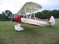 N77ED @ 2TE2 - N77ED prepping for Stearman Memorial Day Fly Over at Flying Oaks Tx. - by E.Oltheten