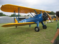 N5635V @ 2TE2 - At Flying Oaks Tx Prepping for Stearman Memorial Day Fly Over in Fort Worth - by E.Oltheten