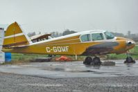 C-GQWF @ CYSN - 1954 Piper PA-23 in the rain and gloom at St Catharines , Niagara District
