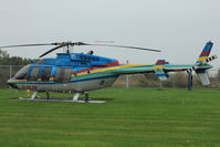 C-FLYG - 1996 Bell 407, c/n: 53033 of Niagara Helicopters at Homebase