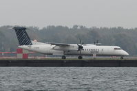 C-GKQB @ CYTZ - 2011 Dehavilland DHC-8-402, c/n: 4359 of Porter Airlines - by Terry Fletcher