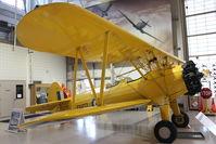C-FAIU @ CYHM - Stearman PT-17 Kaydet, c/n: 75-2180 at Canadian Warplane Heritage Museum - by Terry Fletcher