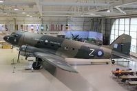 C-GDAK @ CYHM - Douglas DC3-G202A, c/n: 2141 at Canadian Warplane Heritage Museum - Marked with Serial KN456 on port side and KN563 on starboard side