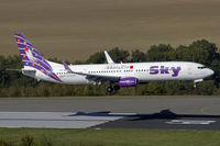 TC-SKN @ EDDR - moments prior touchdown