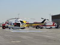 N110LA @ POC - Waiting for a patient from the ambulance to transport to a medical\trauma center - by Helicopterfriend