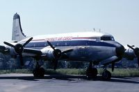 N4989K @ KPTK - Sept. 1995 - Contract Air Cargo DC-4/C-54 parked at PTK - by John Meneely