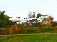 N406CM @ KOQN - KOQN Departing runway 27 - by Richard Shapero