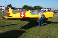 N94245 @ KVTA - At the EAA fly-in - Newark, Ohio - by Bob Simmermon