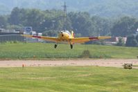 N94245 @ KVTA - Departing the EAA fly-in at Newark, Ohio - by Bob Simmermon