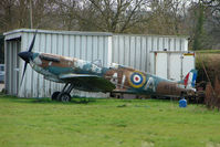 N3310 @ EGBW - A replica Spitfire with Serial N3310 at Wellesbourne - made for the film ' Battle of Britain '