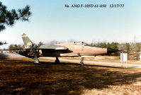 61-0050 @ RIC - F-105D 61-0050 The Boss Virginia Air National Guard Gate Guard at RIC - by Kenneth W. Keeton