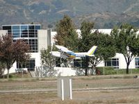 N152BS @ POC - Strong gust of wind hitting while landing on runway 26R - by Helicopterfriend