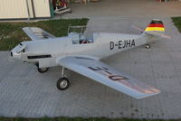 D-EJHA - October 2011, Bf 109 V 7 80% Replica before Home Base at Aschaffenburg in Bavaria/Germany - by Harald Wiegand