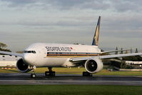 9V-SWS @ EGCC - Singapore Airlines - by Chris Hall