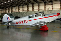 G-AKIU @ EGBE - At Airbase Museum at Coventry Airport