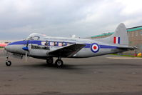 G-DHDV @ EGBE - At Airbase Museum at Coventry Airport